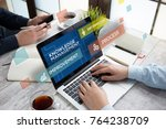 knowledge management concept | Shutterstock . vector #764238709