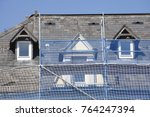 construction site  scaffold ... | Shutterstock . vector #764247394