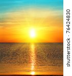 beauty landscape with sunrise... | Shutterstock . vector #76424830