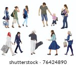 human figures on white | Shutterstock . vector #76424890