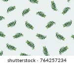 christmas composition. pattern... | Shutterstock . vector #764257234
