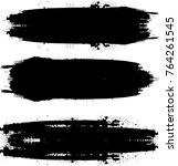 grunge paint stripe . vector... | Shutterstock .eps vector #764261545