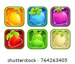 app icons with colorful glossy...   Shutterstock .eps vector #764263405