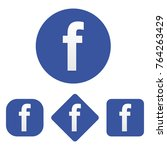 set of facebook icon | Shutterstock .eps vector #764263429