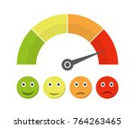 customer satisfaction meter... | Shutterstock .eps vector #764263465