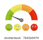 customer satisfaction meter... | Shutterstock .eps vector #764263474