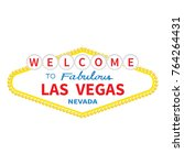 welcome to las vegas sign icon. ... | Shutterstock .eps vector #764264431