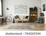 patterned carpet in bright...   Shutterstock . vector #764265544