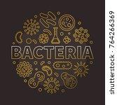 bacteria round creative... | Shutterstock .eps vector #764266369