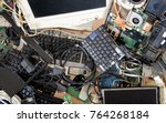 old computer and electronic... | Shutterstock . vector #764268184