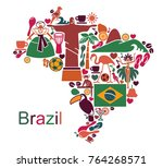 map from traditional symbols of ... | Shutterstock .eps vector #764268571