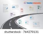 business road map timeline... | Shutterstock .eps vector #764270131