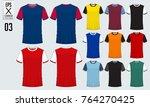 t shirt sport design for soccer ... | Shutterstock .eps vector #764270425