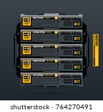 five banners options template... | Shutterstock .eps vector #764270491