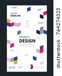 modern design corporate banner... | Shutterstock .eps vector #764274325