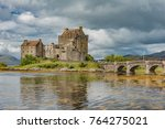 eilan donan castle in the... | Shutterstock . vector #764275021
