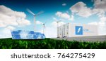 concept of energy storage... | Shutterstock . vector #764275429