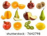 fruits collection isolated on... | Shutterstock . vector #7642798