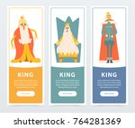 set of vertical banners with...   Shutterstock .eps vector #764281369