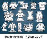 types of casual clothes  doodle ...   Shutterstock .eps vector #764282884