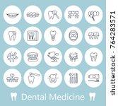 dentistry  orthodontics outline ... | Shutterstock .eps vector #764283571