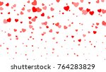 Heart halftone Valentine`s day background. Red hearts on white. Vector illustration