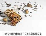 cinnamon sticks with star anise ...   Shutterstock . vector #764283871