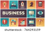 business   set of flat design... | Shutterstock .eps vector #764293159