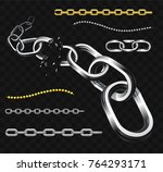 chains   modern vector... | Shutterstock .eps vector #764293171