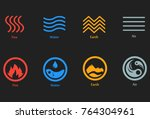 vector illustration of four... | Shutterstock .eps vector #764304961