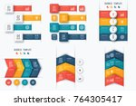 set with infographics. data and ... | Shutterstock .eps vector #764305417