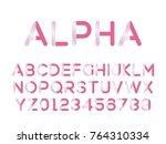 vector of modern stylized font. ...   Shutterstock .eps vector #764310334