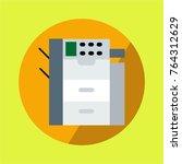 copy machine multifunction... | Shutterstock .eps vector #764312629