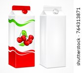 packages for juice  cardboard... | Shutterstock .eps vector #764313871
