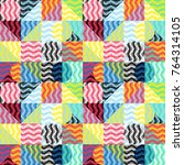 geometric colorful pattern....   Shutterstock .eps vector #764314105