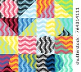 geometric colorful pattern....   Shutterstock .eps vector #764314111