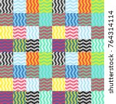 geometric colorful pattern.... | Shutterstock .eps vector #764314114