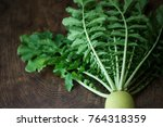 Daikon Greens And Its White...