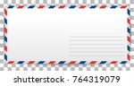 blank letter template of santa... | Shutterstock .eps vector #764319079