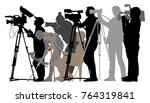 cameraman silhouette... | Shutterstock .eps vector #764319841