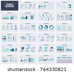 Multipurpose presentation vector template infographic. | Shutterstock vector #764330821