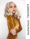 fashion studio portrait of... | Shutterstock . vector #764330875