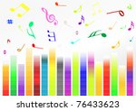 abstract illustration with... | Shutterstock .eps vector #76433623
