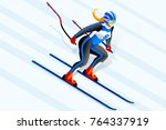 skiing clipart skiing downhill