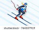 skiing clipart skiing downhill