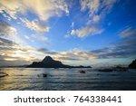 sunset scenery of coron island  ... | Shutterstock . vector #764338441