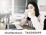 feeling sick and tired. sick... | Shutterstock . vector #764340499