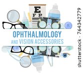 set of medical optometry... | Shutterstock .eps vector #764342779