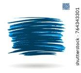 blue  brush stroke and texture. ... | Shutterstock .eps vector #764343301
