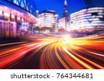 abstract speed motion blur  | Shutterstock . vector #764344681